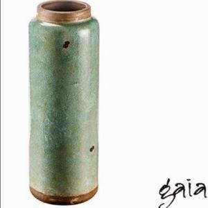 "NEW Gaia Hand Glazed 20"" Tall Floor Vase"